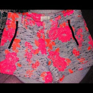Neon Pink High Waisted JCrew Shorts